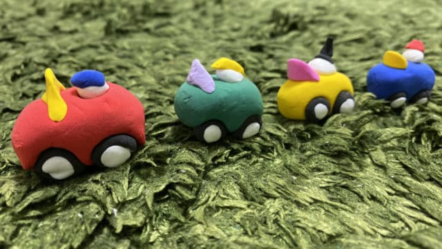 my littele car紙粘土
